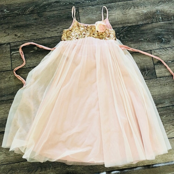Monsoon Other - Beautiful girls dress-soft pink tulle with sequins